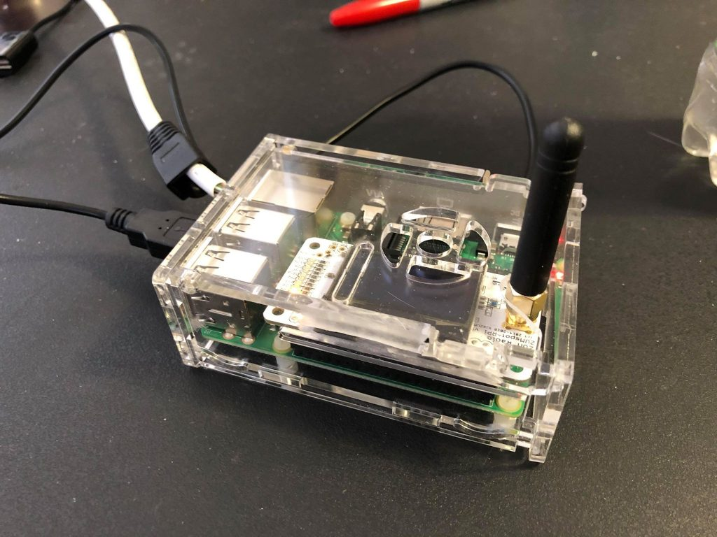 Raspberry Pi 3 with integrated ZumSpot and case.